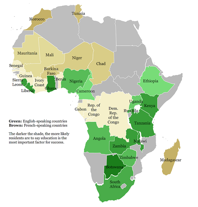 Education in africa map - French intellectual property office ...