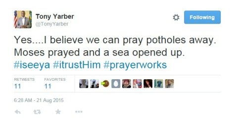 yarber-tweet-about-potholes
